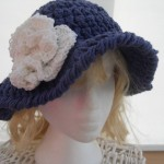 Knitnaks Blue Denim Sun Hat